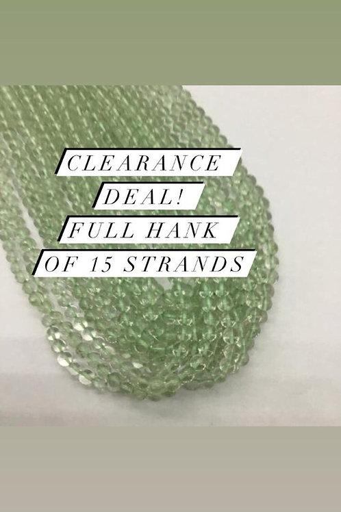 Closeout Sale price Green AmethystPlain Balls 15 strands full hank wholesale