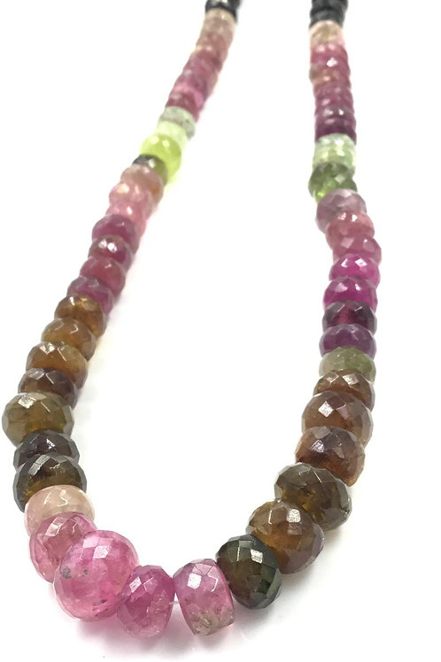 Multi Tourmaline Faceted Beads Natural Gemstone Necklace gemstones beads