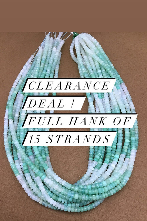 Closeout Sale price Blue Opal Faceted Beads 15 strands full hank wholesale