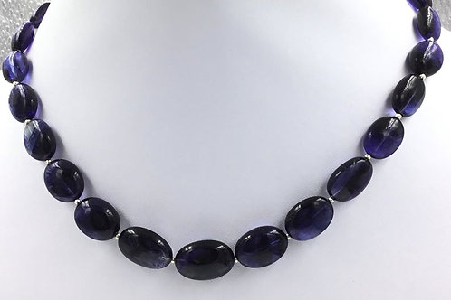 Iolite Oval Beads 227, Size =8x10 To 13x18 MM 27 Pieces Necklace Natural Gems
