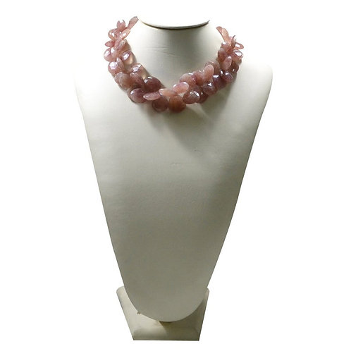 Strawberry Quartz Beautiful Necklace Faceted Drops 1 Strand Gemstone Jewellry