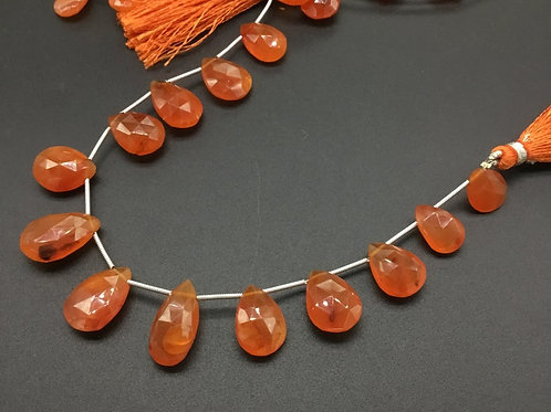 Carnelian Pear Faceted Natural gemstone 8'' Top Quality Shape Carnelian Natural