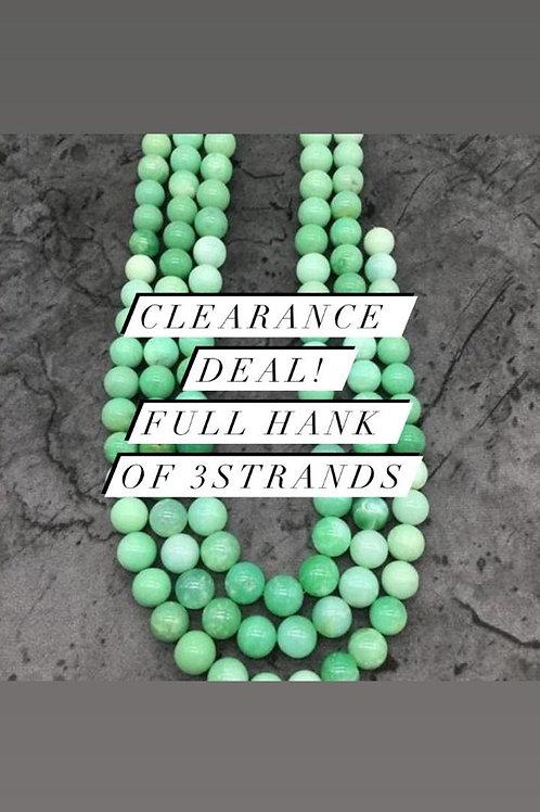 Closeout Sale price Chrysoprase Plain Balls Beads 3 strands full hank wholesale