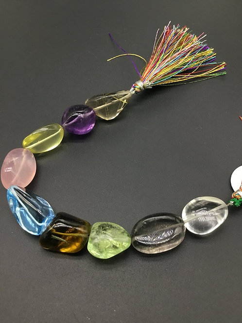 Multiple Semi Precious Gemstones 8 '' Plain Tumble 295.60 Ct 100 % Natural Gems