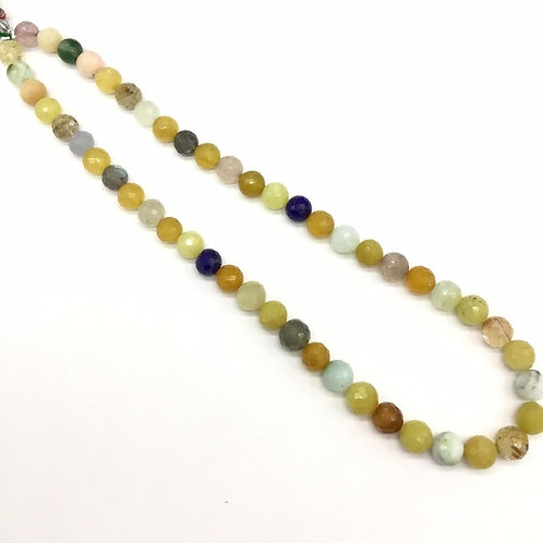 Mixed Gems Multiple Faceted Balls Gems Jewellery 16inch strand 175carats