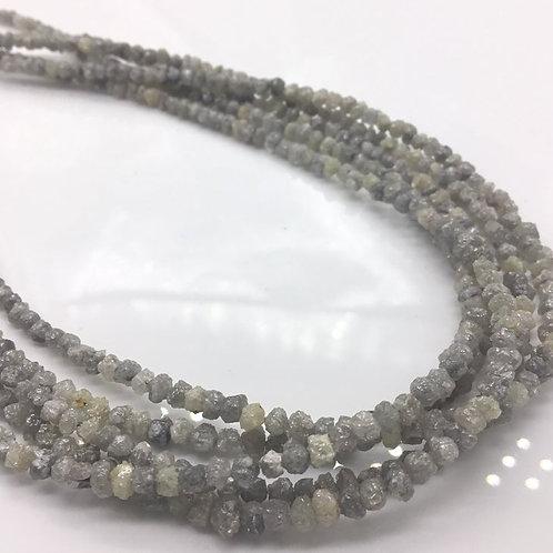 White Uncut Diamond Beads
