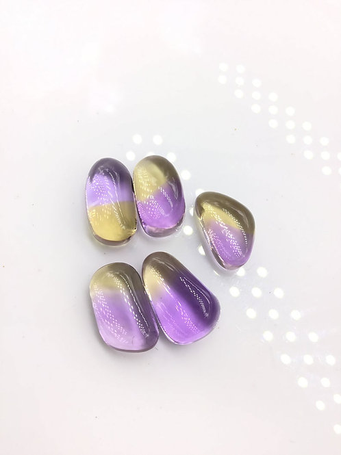 Ametrine Tumble natural Gemstone For Jewelry Making beading Tumbled gem Ametrine