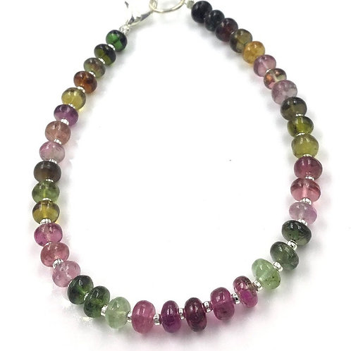 Multi Tourmaline Mixed Shaded Beads Natural Gemstone
