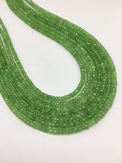 Tsavorite Faceted Beads 16 '' AAA quality Natural Gemstone 1 Strand Necklace