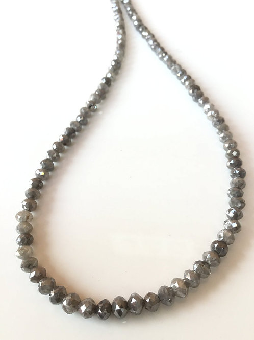 Grey Diamond Faceted Beads Natural Gemstone