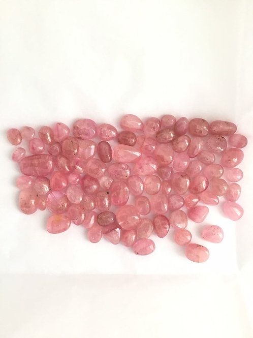 Tourmaline Burmese Pink Tumbled Gemstone for jewellery ring pendant earrings