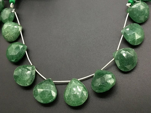 Aventurine 8 '' Faceted Pear 1 Strand Natural Bead Necklace