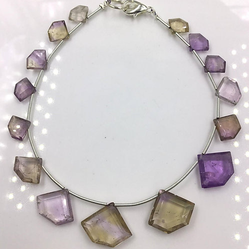 Ametrine Fancy Kite Cut Stone Beads Natural Gemstones