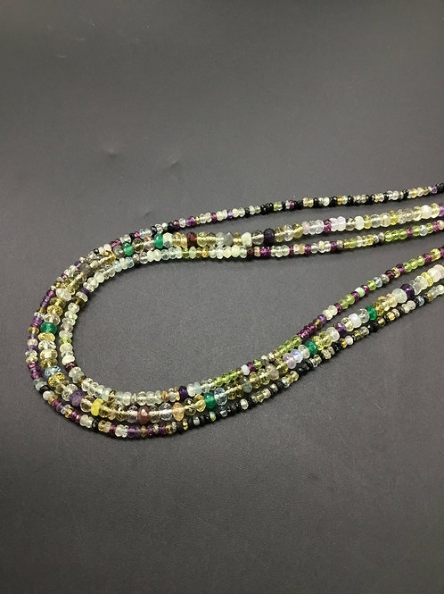 Multiple Mixed Gems Faceted beads Natural Gemstone 16'' multi Disco Gemstone