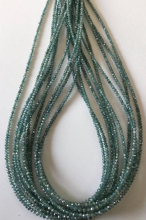Light Blue Diamond Beads Natural Gemstones
