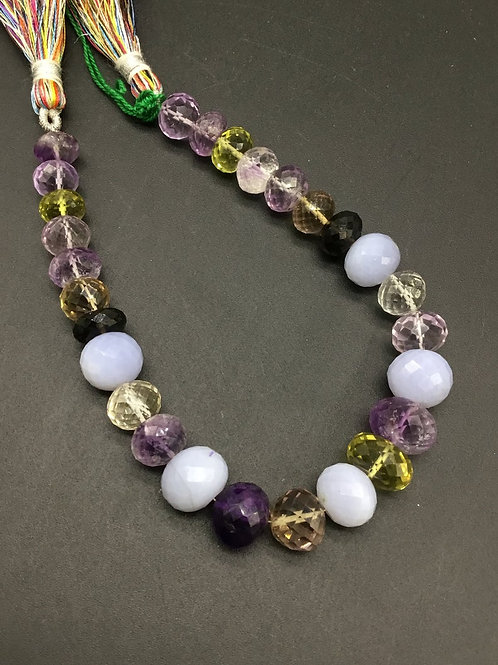 Mixed Gems precious 8 '' Faceted Beads Natural Gemstone Top quality Shape