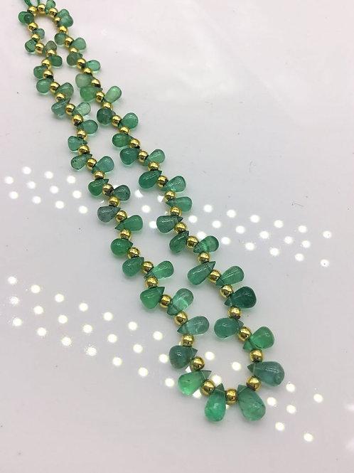 Natural Emerald Drops / Teardrops Zambian Emerald Gemstone 4x3 to 7x4 mm 10 cts