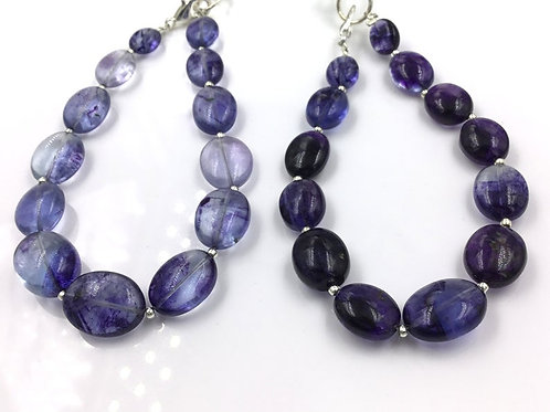 Iolite Oval Beads 139.25, Size =7x8To 11x14 MM 26 Pieces Necklace Natural Gems
