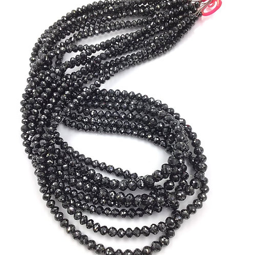 Black Diamond Balls Beads 16 Inches 3 To 5 mm Approx 20 Carats 1 Strand