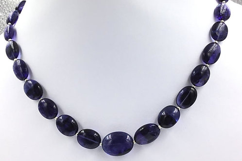 Iolite Oval Beads 223, Size =8x9 To 15x19 MM 29 Pieces Necklace Natural Gemstone