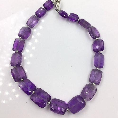 Amethyst Faceted Fancy Cushion Gemstone Jewelry