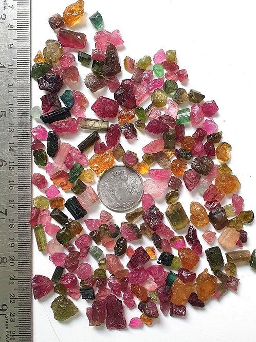 Multi Tourmaline Raw Material Rough Gemstone