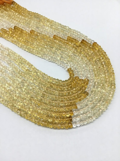 Citrine Shaded 15 '' Faceted Beads Top Shaded Quality 100 % Natural 52 C