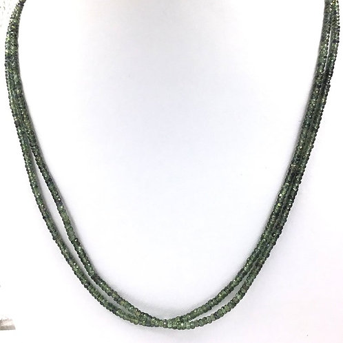 Green Sapphire Faceted Beads Natural Gemstone 1strand