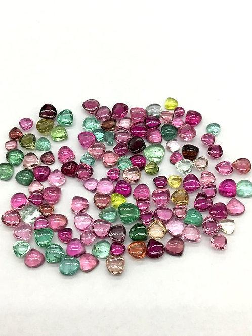 Multi Tourmaline Heart Shape AAA + Top Quality Natural 13.52 Ct Gemstone Jewel
