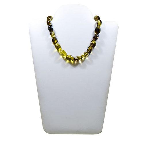 Bio color Lemon Quartz 16'' - Brazil checker Cut mani Gemstone 1 Strand