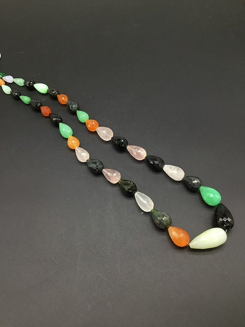 """Multiple Mixed Gems 16 """" Natural gemstone Faceted drops 5 x 8 to 11 x 26 MM gems"""