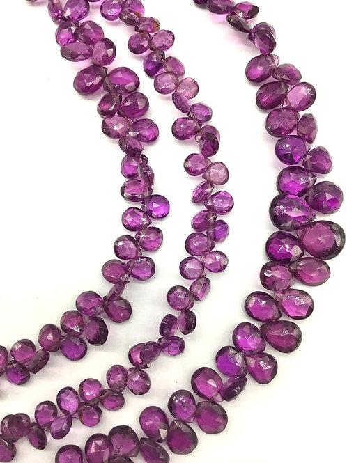 Purple Garnet 8 '' Faceted Pear Natural Gemstone 49 Ct Handmade Gemstone