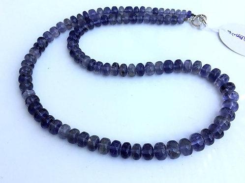 Iolite Smooth Balls Necklace Natural Gemstone