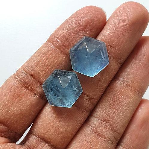 Aquamarine Sugarloaf AAA Quality Natural Aqua gemstone