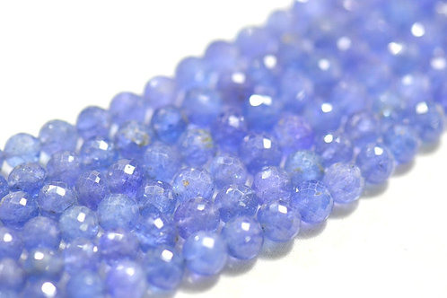 Tanzanite beads Tanzania 16 '' Faceted Balls 1 Strand Gemstone