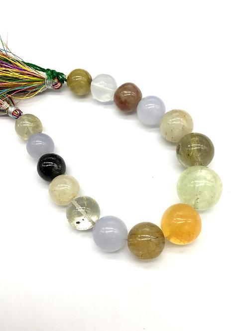 Multiple Mixed Gems Precious 8 '' Smooth Balls 263.75 Ct Natural Gemstone