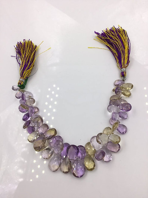 Ametrine Drops Faceted 121.35, Size =6x7 To 10x14 MM 54 Pieces Ametrine Necklace