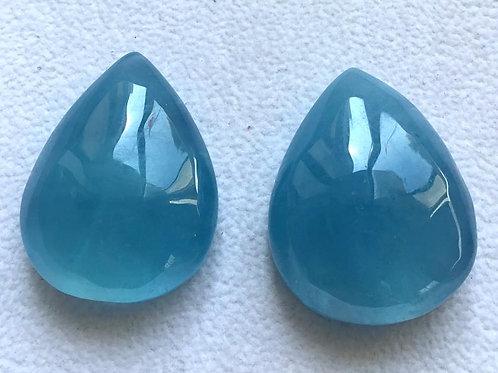 Aquamarine Pear Natural Aquamarine Gemstone For Pendant Good Quality