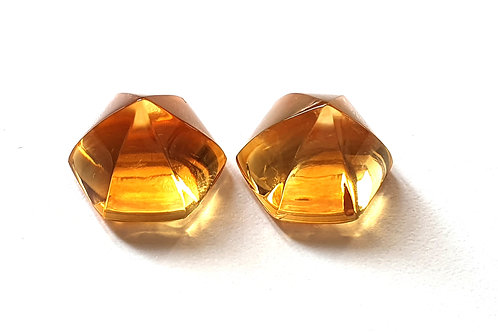 Citrine Star Sugarloaf Gemstone For Jewelry