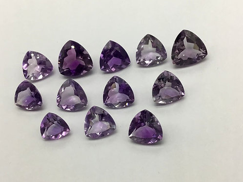 Amethyst Trillion Cut Shape 20 Pieces Lot Loose Natural Gemstone Handmade