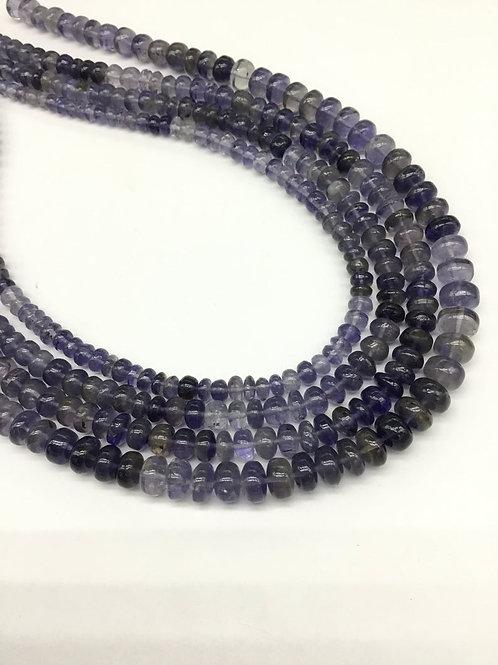 Iolite Plain Beads 1 Strand Natural Gemstone Necklace