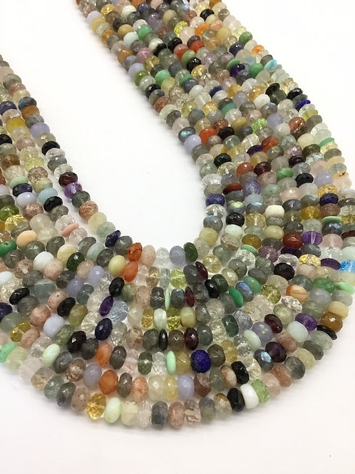 Multiple Mixed Gems Faceted Beads 1strand 120carats size-6to7MM Natural Gems8 to