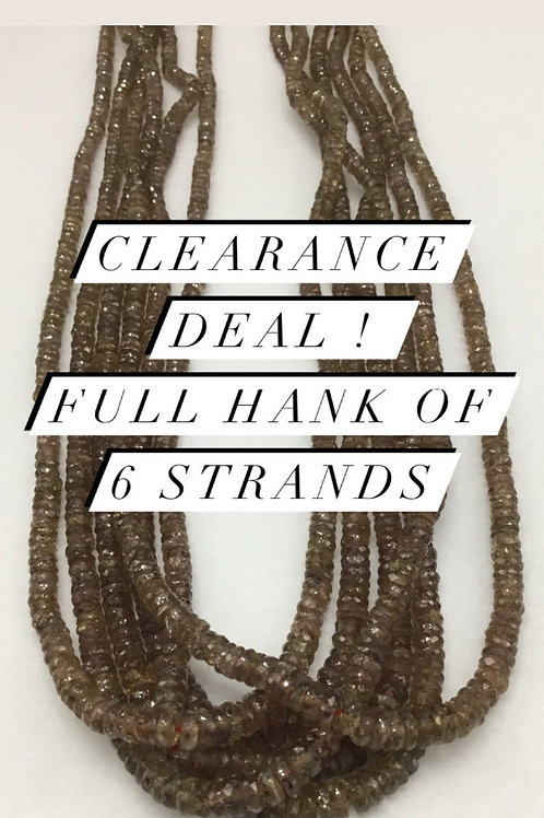 Closeout Sale price Color Change Garnet faceted Beads 6 Beadsstrands full hanK