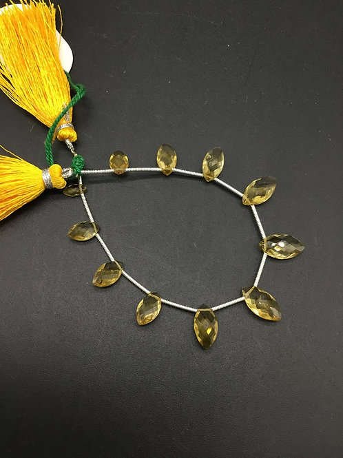 Citrine 7 '' Faceted Fancy Shape Natural Gemstone Necklace 17.20 Ct