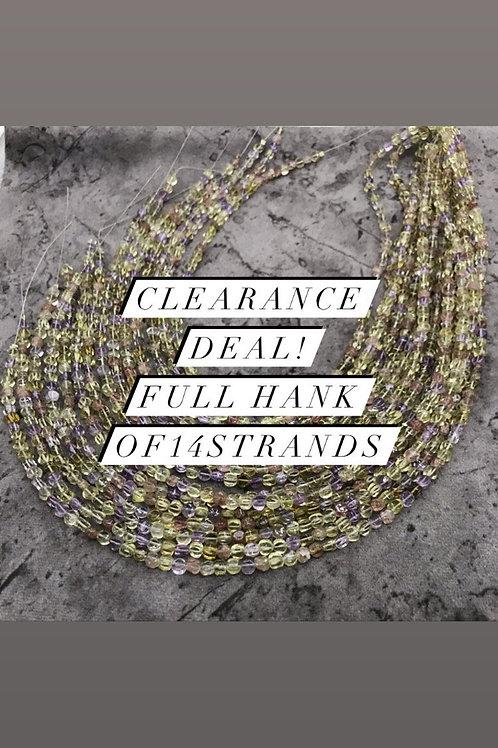 Closeout Sale Semi Multi Plain Fancy 14 strands full hank wholesale closeout
