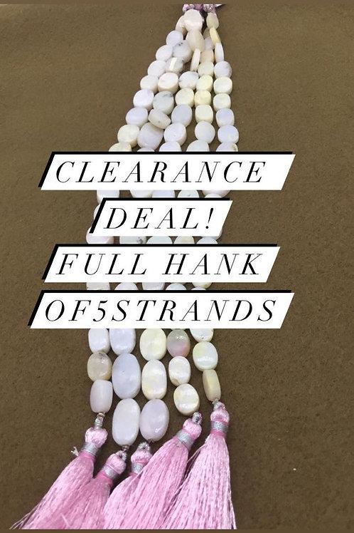 Closeout Sale price Pink Opal Plain FANCY 5 strands full hank wholesale closeout