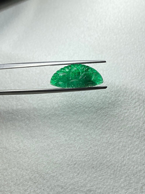 AAA quality Emerald carving from Zambian mines. Emerald carving handmade