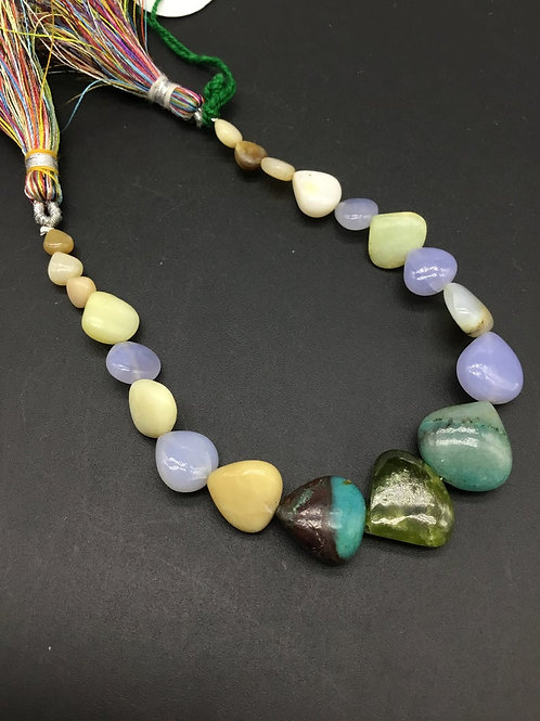 Multiple Mixed Gems Precious 8 '' Natural Gemstone Necklace 80.20 Ct gemstone