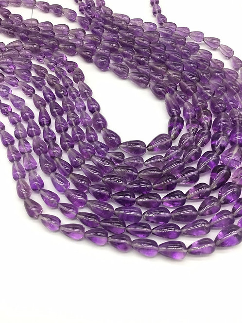 Amethyst Drops Smooth Straight Drilled Drops Gemstone Jewellery Necklace 16inch