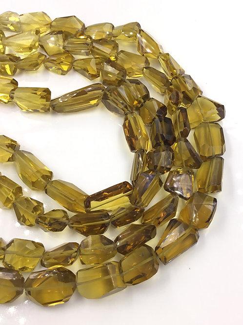 Honey/Beer Quartz Faceted Tumble Natural Gemstone